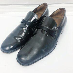 Bally | Black Patent Leather Slip On Dress Shoes